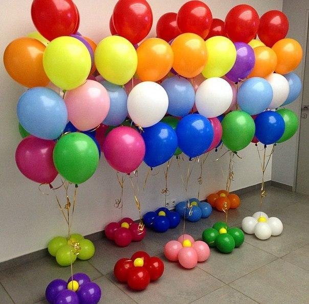 Фото фонтан из шаров